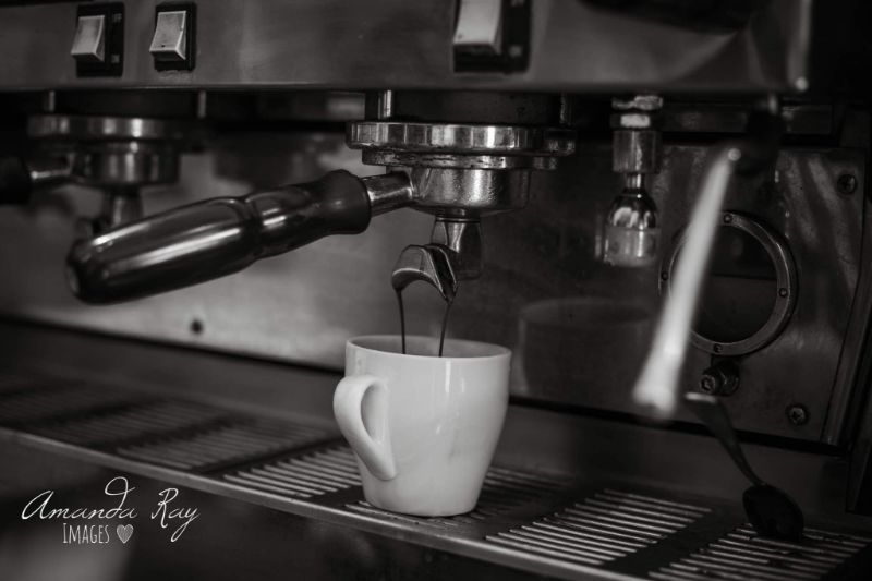 Freshly Brewed Coffee Made By The Barista At The Buttered Scone