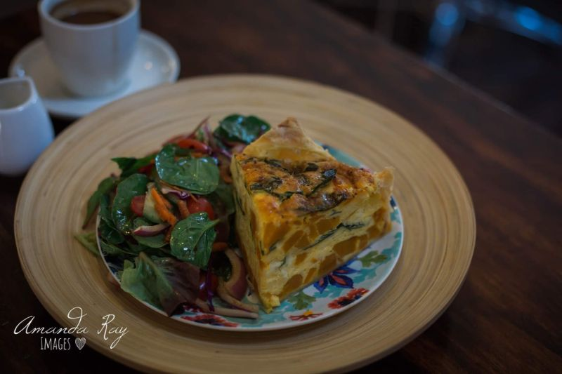 Delicious Frittata And Salad For Lunch In Cafe, The Buttered Scone