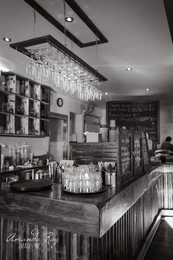 Service Bar In Scone's Modern Cafe With Rustic Charm